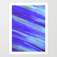 WASHED UP - Bold Blue St… Art Print