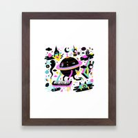 Interstellar Beat Framed Art Print