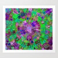 Mosaic Gems Amethyst Art Print
