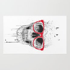 Skull with red glasses Rug