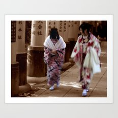Geishas (Kyoto, Japan) Art Print