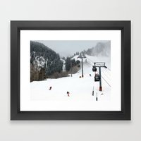 Aspen Mountain Framed Art Print
