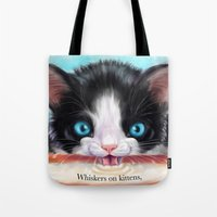 Whiskers on Kittens Tote Bag