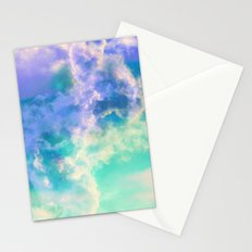 Mountain Meadow Painted Clouds Stationery Cards