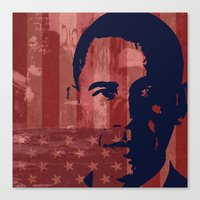 Heads of State: Barack Obama Canvas Print