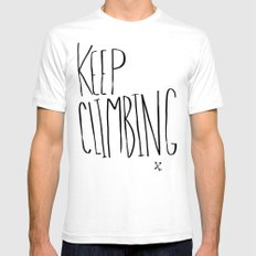Keep Climbing Mens Fitted Tee White SMALL