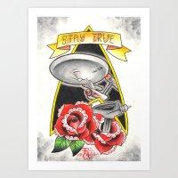 Stay True Star Trek Art Print