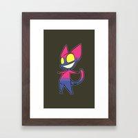 GhostKat Pride (Bi) Framed Art Print