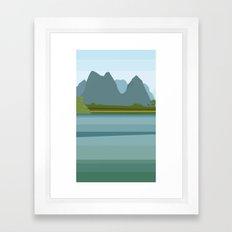 Laos minimal Framed Art Print