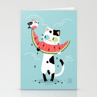 Watermelon Cat Stationery Cards