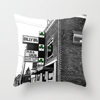 Billy B's Pub Throw Pillow