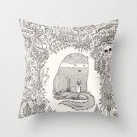 Froggle, Doggle And Pogg… Throw Pillow