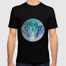 MOON BUTTERFLY SMALL Mens Fitted Tee Black