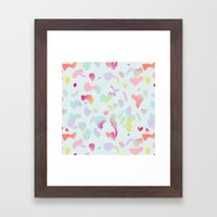 Sorbet Drops Framed Art Print