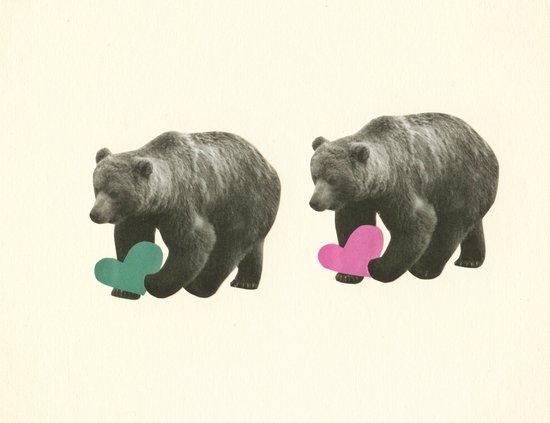 A Bear Romance Canvas Print