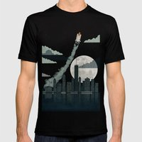 Rocket City Mens Fitted Tee Black SMALL
