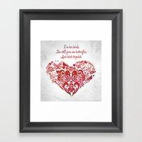 Baybeh Heart Haiku Framed Art Print