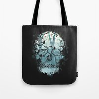 Dark Forest Skull Tote Bag