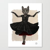 Twirling, Twirling, Couture Kitty Canvas Print
