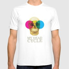 CYCLE SMALL White Mens Fitted Tee
