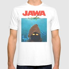 JAWA Mens Fitted Tee SMALL White
