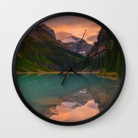 Autumn In Lake Louise Wall Clock