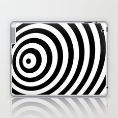 Modern Black & White Geometric Optical Illustration  Laptop & iPad Skin