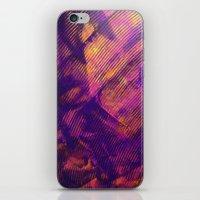 Purple And Orange Stripe… iPhone & iPod Skin