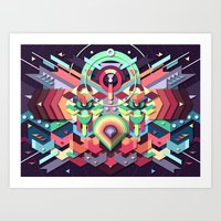 BirdMask Visuals - Owl Art Print