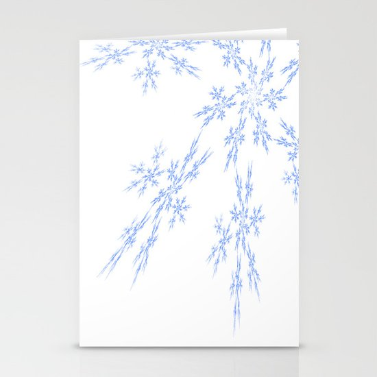 Snowflakes Falling Stationery Card