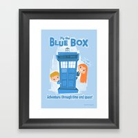 Fly The Blue Box! Framed Art Print