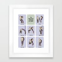 The Sleeping Kama Sutra  Framed Art Print