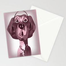 Doggie Singing The Blues Stationery Cards