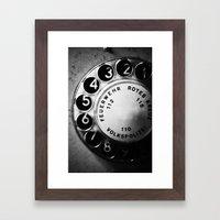 Telephone Dial (GDR) Framed Art Print