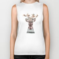 in nature deer Biker Tank