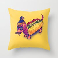 Chicago Dog Throw Pillow
