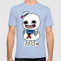 Stay Puft Mens Fitted Tee Tri-Blue SMALL