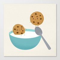 Two Cookies Canvas Print