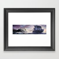 Abandoned Cruiser Framed Art Print
