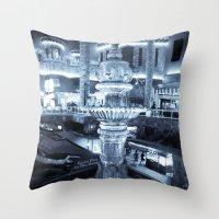 Twilight Fountain Throw Pillow