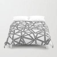 Abstract New Black On Wh… Duvet Cover