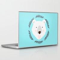 polar bear Laptop & iPad Skins featuring polar bear by Taranta Babu