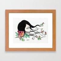 flowing beauty Framed Art Print