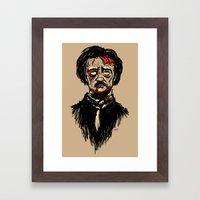 Edgar Allan Poe Zombie Framed Art Print