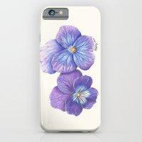 Purple Pansies iPhone 6 Slim Case
