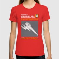 Normandy SR-2 Cerberus Service and Repair Manual Womens Fitted Tee Red SMALL