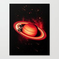 SATURN SKATING Canvas Print