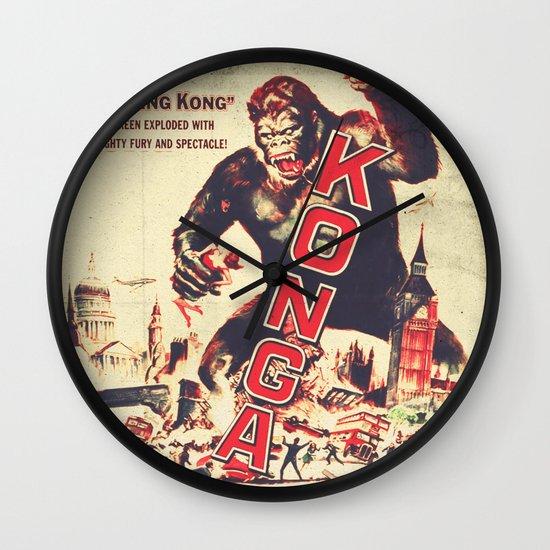 Konga Retro Movie Wall Clock By Fernando Vieira Society6