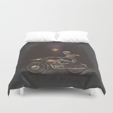 Death Rides in the Night Duvet Cover