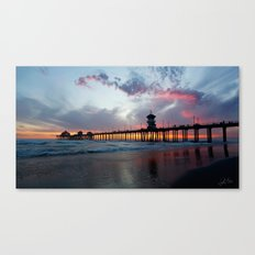 Sunset ~ Huntington Beac… Canvas Print